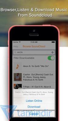 free music downloader iphone için indir